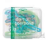 Dino Animal Rubber Bands - 7 Piece Box