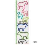 Farm Animal Rubber Bands - 7 Piece Card