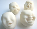 """Faces of the Moon"" Stress Balls"