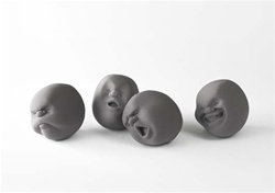 "Gray ""Faces of the Moon"" Stress Balls"